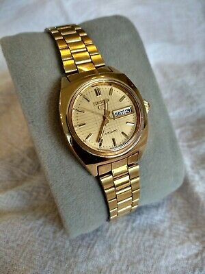 Rare Vintage SEIKO 5 Automatic Gold Watch 2906-0600 Ladies/Women's