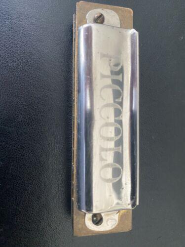 Hohner Piccolo Kleine Mundharmonika Vintage aus 1930er Jahre Gravuren Holzverp