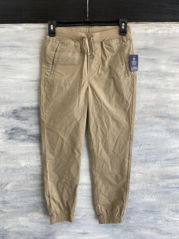 IZOD Tapered Joggers BOYS 10 14 16 19 20 Regular or Husky  School Uniform Khaki