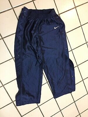 ae9ec47cafb NIKE Blue pants Athletic Tear Away Side Snap BASKETBALL Mens XL ribbed