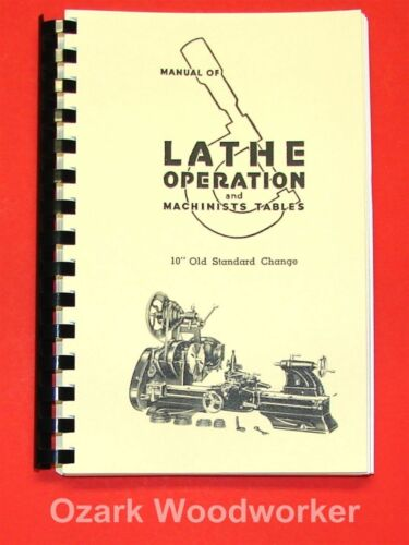 "Atlas Craftsman Manual of Lathe Operation Book for Old 10"" Standard 0037"