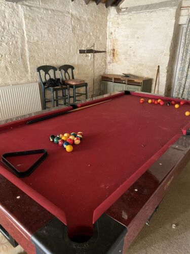 American Size Pool Table 8x4, Slate Bed