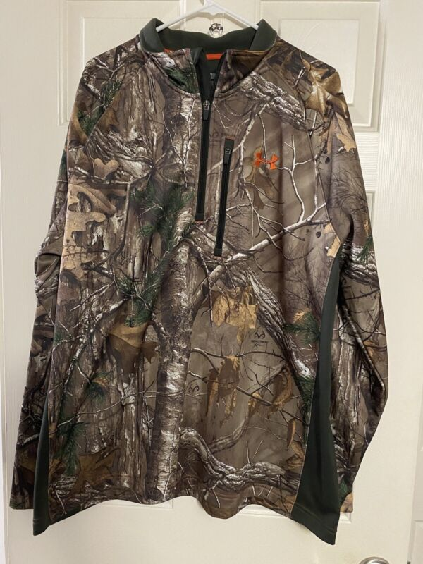 Men's Under Armour Realtree 1/4-zip Cold Gear, Size XXL