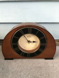 Vintage Bulova Wooden Wall Clock C4432 Tested Working CW112