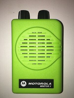 Motorola Minitor V 5 Vhf Band Pagers 151-159 Mhz Nsv 2-chan Apex Green