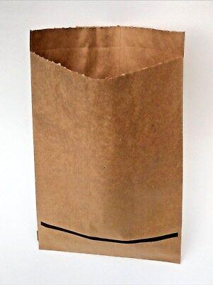 100 Vintage Heavy Duty Kraft Merchandise Paper Bags 8-12 X 12 Inches Flat 1980s