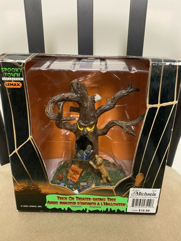 2005 Lemax Spooky Town Trick or Treater-Eating Tree