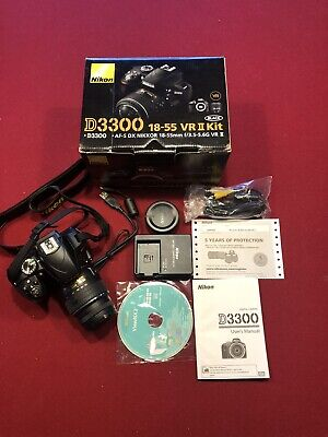 Nikon Camera D3300 18-55 VR II Kit (Barely Used!!)