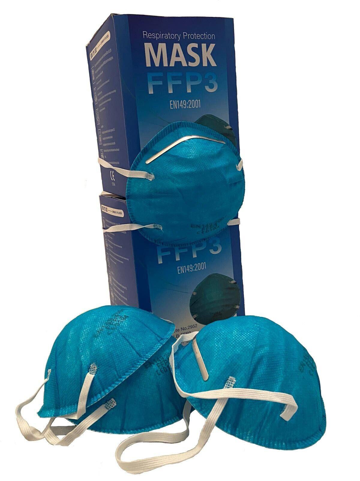 Schutzmaske FFP3 Atemschutz Mundschutz Staubmaske ohne Ventil