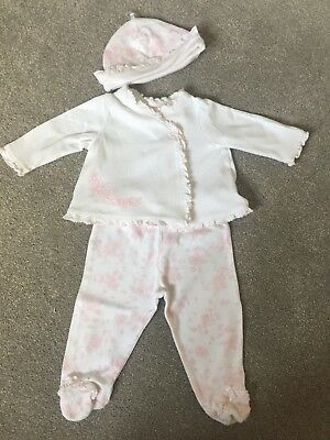 Little Me Baby Girl Jacket, Leggings and Hat.  Six Months