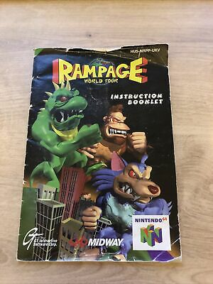 Rampage World Tour Nintendo N64 Instructions Only Well Used UKV PAL