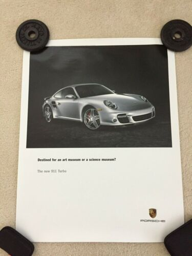 "Porsche 911 997 Turbo Official Showroom Poster 22""X26"" New Very Rare!!"