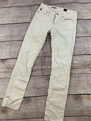 Womens 26 Reg Adriano Goldshcmied AG Jeans The Stevie Slim Straight Pants Cords Ag Jeans, Cord Jeans
