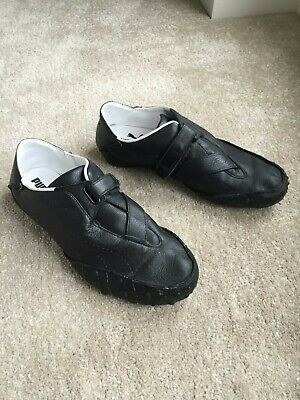Puma Mostro All Black Leather Trainers UK Size 10 - Excellent Condition