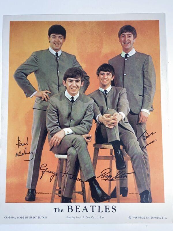 """The Beatles 1964 NEMS ENTERPRISES Litho Print Picture 8"""" x 10"""""""