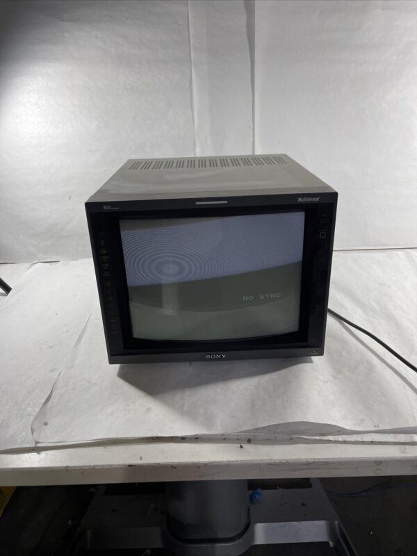 Sony PVM-14L5 HD video monitor CRT with SDI RGB Component - AM W1A