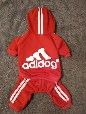 Costums For Dogs (🐕Adidog Pet Red Jumpsuit/Costume~For Medium-Sized Dog~Cute!!! Free)