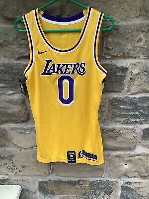 Brand New With Tags Nike NBA Los Angeles Lakers Jersey Yellow Small Kuzma 0