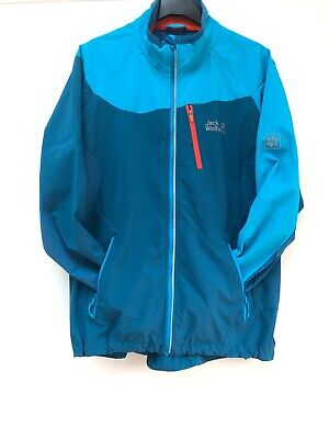 Mens Jack Wolfskin Outdoor Windbreaker Softshell Jacket Coat Size UK Small 36/38