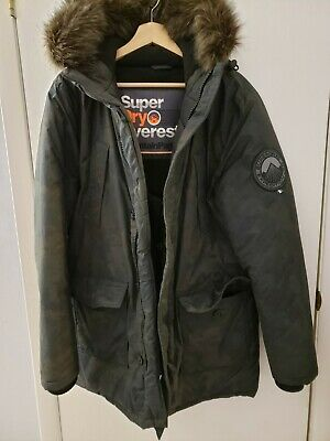 Superdry Expedition Parka Camo Green Jacket Size Large L