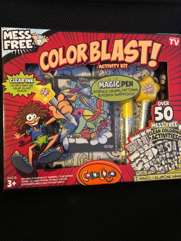 Colorblast Activity Kit As Seen on TV Clear Ink Markers No Mess Ages 3 Plus