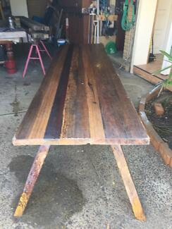 Handcrafted recycled hardwood table Narraweena Manly Area Preview