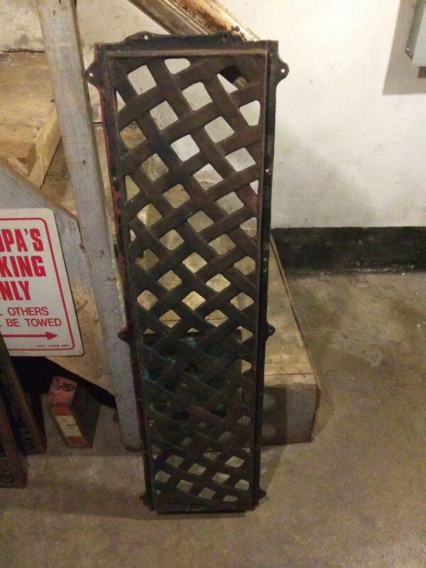 Vintage Cast Iron Park Bench Back