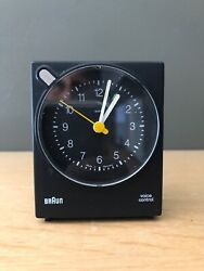 Vintage Braun Voice Activated Alarm Travel Bedside Clock AB4763 Dieter Rams Orig