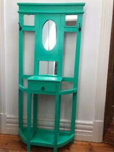 Hall Stand timber painted mint green Northcote Darebin Area Preview