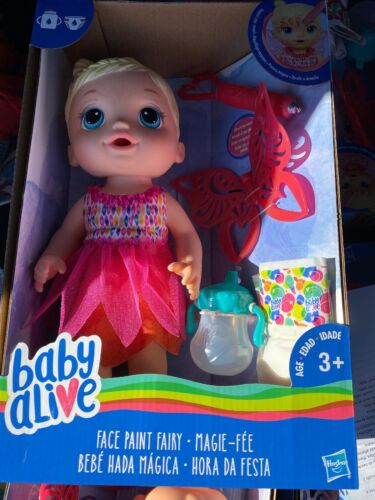 New! Baby Alive Face Paint Fairy Hasbro Doll - Blond Interac
