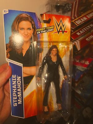 Wwe Stephanie Mcmahon First Time In The Line Mattel Figure  Never Opened