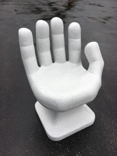 """faux Granite White right HAND SHAPED CHAIR 32"""" adult 70"""