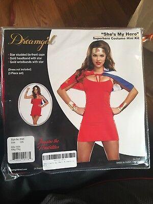 Superhero She's My Hero Adult Women Halloween Costume Kit