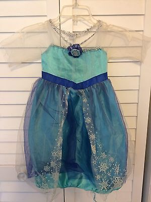 Girls / Toddlers 4-6x Disney Frozen Elsa Sparkly Winter Dress Costume Blue ()