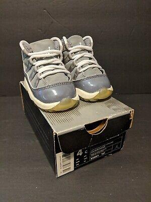 Rare Nike Air Jordan Baby Retro XI 11 Cool Grey (TD) Sz 4c