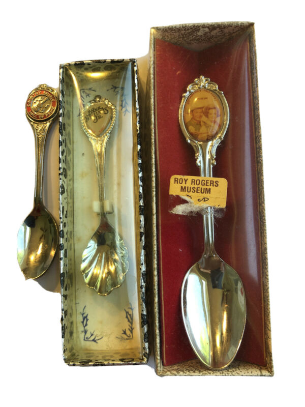 VintageSouvenir Spoon Lot  Country Music Hall Roy Rogers Hank Williams Jr.