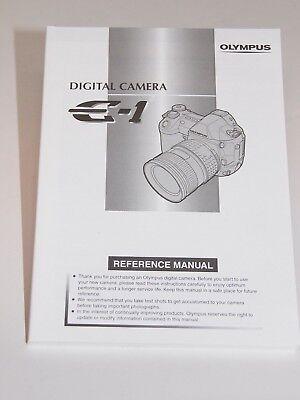 Olympus E-1 Instruction Manual