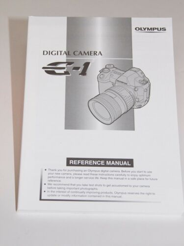 Olympus E-1 Instruction Manual