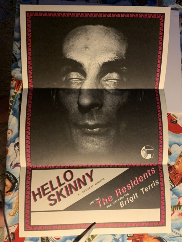 The Residents Hello Skinny Moviette Daybill Poster RARE 11x17 Folded Mint