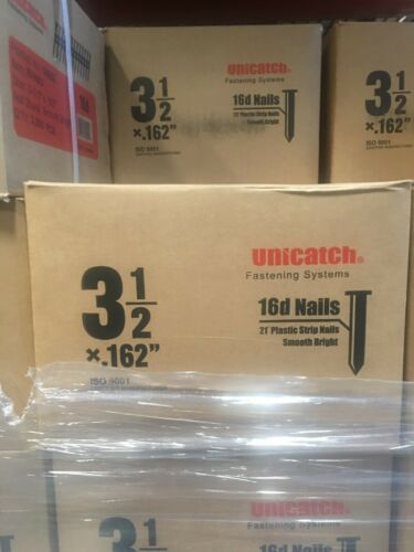 3-1/2 X .162 16d SMOOTH 21` Framing Nails 3000/Case Hitachi,DeWalt,Senco