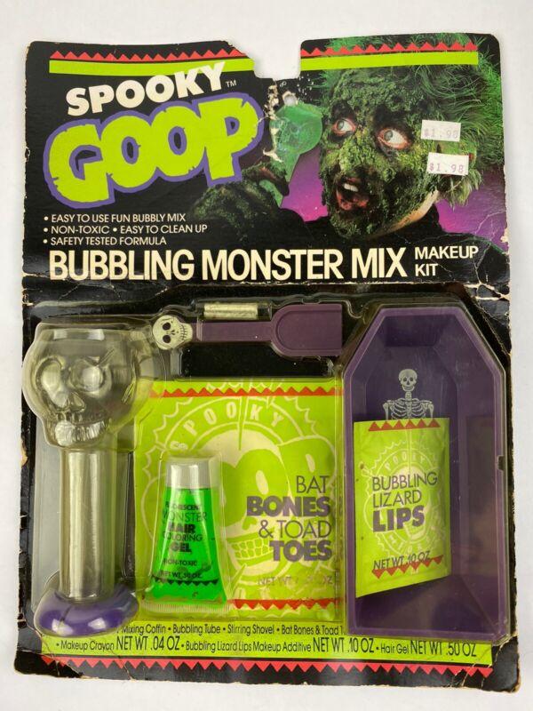 Vintage Halloween Spooky Goop Bubbling Monster Mix Makeup Kit 1988