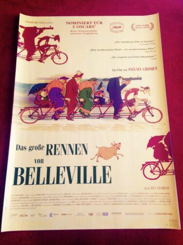 Das große Rennen von Belleville Kinoplakat Poster A1