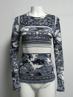 VERSACE COLLECTION printed long sleeve top sz 46