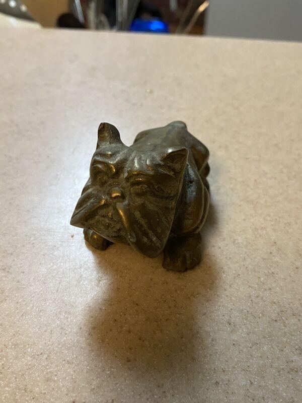 Vintage Brass English Bulldog Figurine Paperweight, EXCELLENT!!!