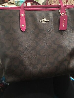coach bag new chocolate and hot pink never - Hot Pink Chocolate
