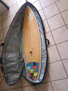 "6'2"" mckee fanatic surf board and fcs bag Southport Gold Coast City Preview"