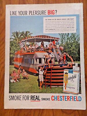 1957 Chesterfield Cigarette Ad Land Yacht Resort on Wheels RV
