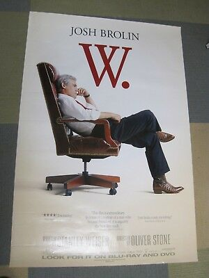 W. 27x40 Movie Poster Josh Brolin