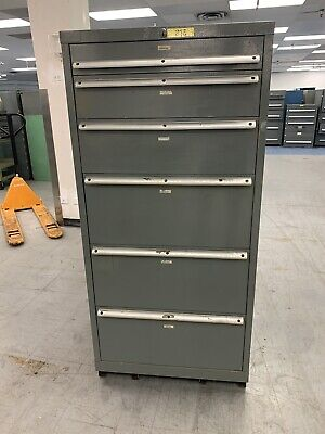 Stanley Vidmar Tool Storage Cabinet - 30 Wide 6 Drawers