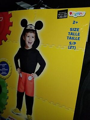 Toddler Mickey Costume 2T NWT Disguise Disney Junior Mickey Mouse Club House - Mickey Mouse 2t Costume
